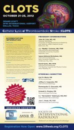 CLOTS - Society Of Interventional Radiology