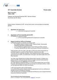 Procès-verbal de l'Assemblée générale 2013... - UIPF