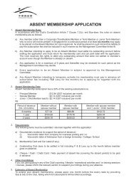 Application Form For Absent Membership - Chinese Swimming Club
