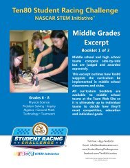 Ten80 Student Racing Challenge for Middle Grades