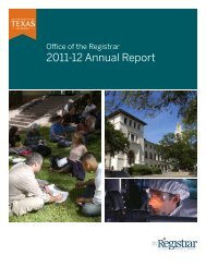 2011-2012 annual report - Office of the Registrar - The University of ...