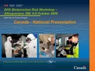 Canada - National Presentation - Sandia National Laboratories