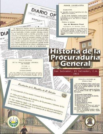 Historia de la Procuraduría General Historia de la Procuraduría ...