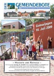 Ausgabe :Gomaringen 18.07.09.pdf - Gomaringer Verlag