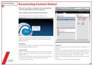 Einstieg Content Station - Vogt-Schild Druck AG