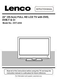 "22"" (55.5cm) FULL HD LCD TV with DVD, DVB-T & CI - Lenco"