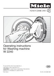 Operating instructions for Washing machine W 2240