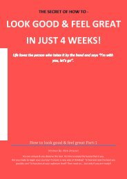 LOOK GOOD & FEEL GREAT IN JUST 4 WEEKS! - Are you ready to ...