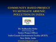 community based project to mitigate arsenic pollution in india