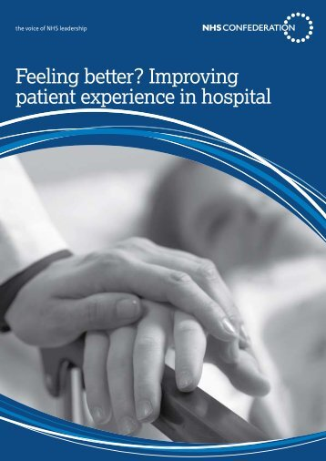 Feeling better? Improving patient experience in hospital