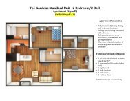The Gardens Standard Unit –2 Bedroom/2 Bath Apartment (Style D)