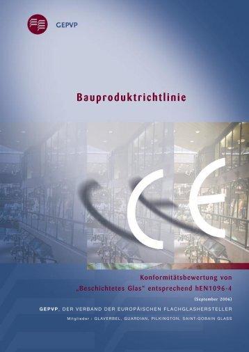 Bauproduktrichtlinie - Glass for Europe