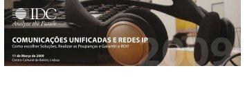 ComuniCações unifiCadas e Redes iP - IDC Portugal
