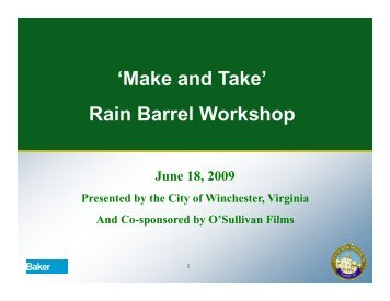 What is a Rain Barrel? - City of Winchester, VA