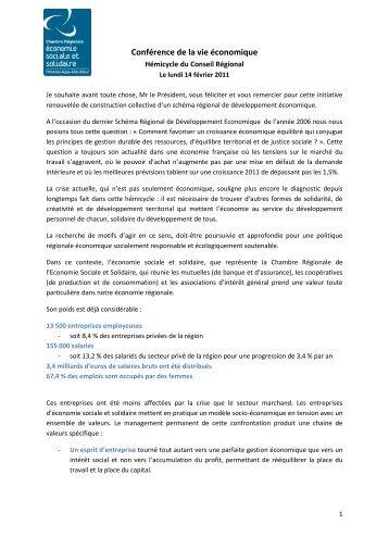 Conférence de la vie économique - CRESS PACA