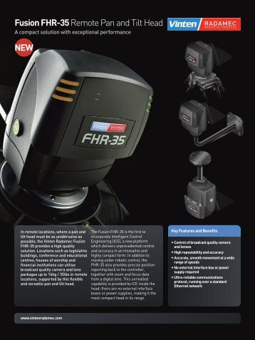 Fusion FHR-35 Promotional Flyer - Vinten Radamec