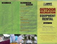 Recreation and Party Equipment Rental Price List - Hawaii Navy MWR