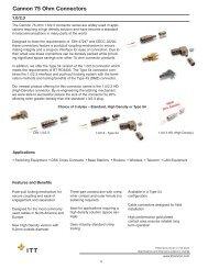 ITT Cannon RF 75 Ohm 1.0 2.3 DIN 47247 and CECC 22230 ...