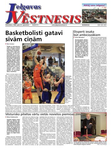 2008. gada 25.septembris. Nr.39(71) - Jelgavas Vēstnesis