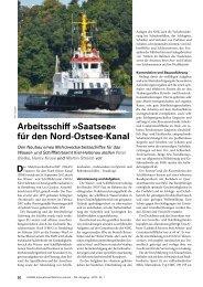 Arbeitsschiff »Saatsee« für den Nord-Ostsee-Kanal