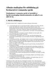 Studieplan för doktorander antagna från 1 juli 2007 till 30 juni 2011