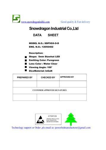 5mm Straw Hat LED Puregreen 100° (PDF) 2b1edd5109f7