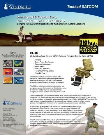 Tactical SATCOM - Windmill International Inc.