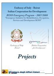 Projects - Cooperazione Italiana allo Sviluppo