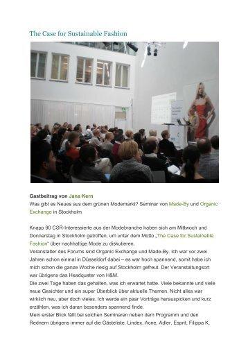 The Case For Sustainable Fashion Karmakonsum - Jana Kern