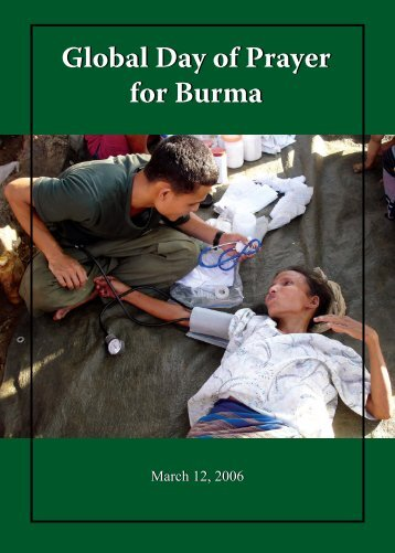 Global Day of Prayer for Burma Global Day of Prayer for Burma