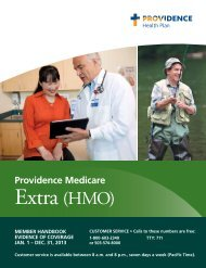 2013 Evidence of Coverage - Providence Health Plan