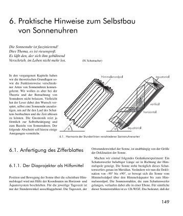 6. Praktische Hinweise zum Selbstbau von Sonnenuhren