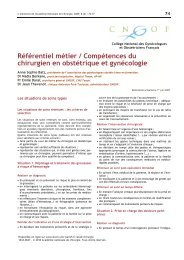 Référentiel métier / Compétences du chirurgien en obstétrique et ...