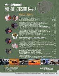 MIL-DTL-26500, Pyle® Connectors - Amphenol Aerospace