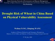 Climate Change Adaptation Research in China - auedm