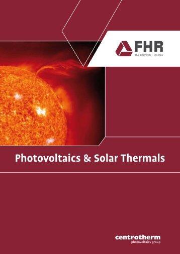 Photovoltaics & Solar Thermals