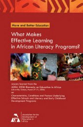 Biennial Meeting 2006: More and Better Education - ADEA