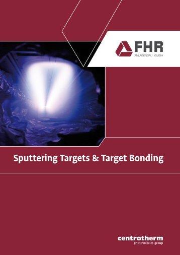 Sputtering Targets & Target Bonding