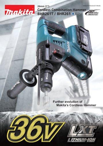 BHR261T / BHR261 Cordless Combination Hammer - Makita