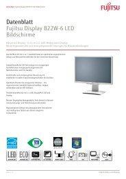 Datenblatt Fujitsu Display B22W-6 LED Bildschirme - Cancom