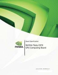 NVIDIA Tesla C870 GPU Computing Board