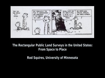 The Rectangular Public Land Surveys in the United States: From ...