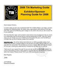 2008 TIA Spo-Exh Planning Guidev3.pub - Tortilla Industry Association