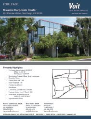 FOR LEASE Miralani Corporate Center - Voit Real Estate Services