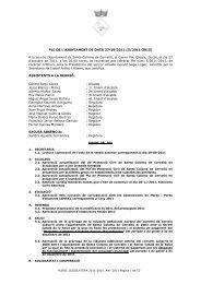 Ple 27 d'octubre de 2011 - Ajuntament de Santa Coloma de Cervelló