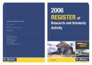 Wintec Register of Research and Scholarly Activity 2006
