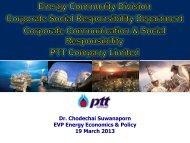 Dr. Chodechai Suwanaporn EVP Energy Economics ... - ESCI KSP
