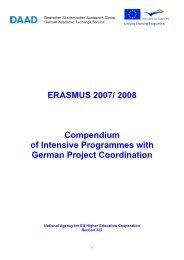 ERASMUS 2007/ 2008 Compendium of Intensive ... - DAAD