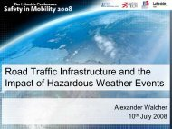 Road traffic infrastructure and the impact of hazardous weather events