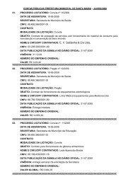 NOME E CNPJ/CPF CONTRATADO - Prefeitura Municipal de Santa ...